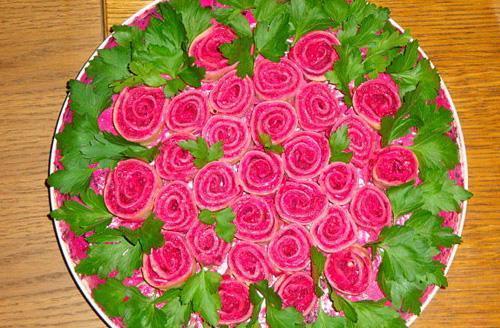 Салат Розы для любимой