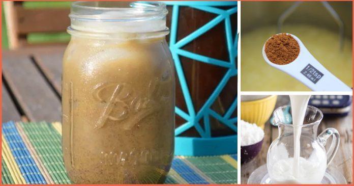 Коричневый пряный кофе с кокосовым молоком для долговременной энергии !