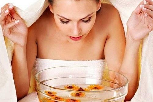 Очищение лица паровыми ванночками