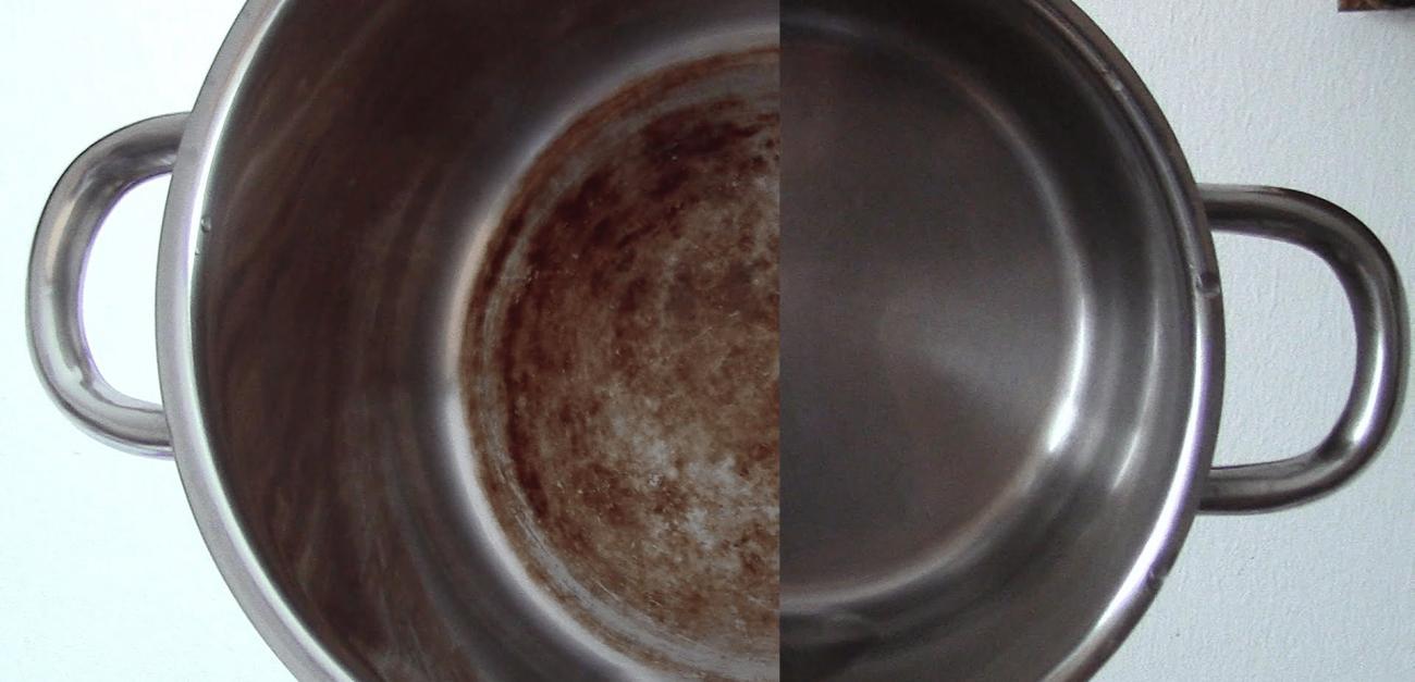 Այս հրաշալի միջոցը կմաքրի կաթսայի վրայի յուղը, կեղտը, մուրը. Այն նոր կաթսային չեք տարբերի