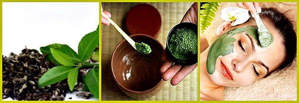 Маска-скраб с зеленым чаем и оливковым маслом