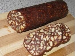 Շոկոլադե երշիկի բաղադրատոմս