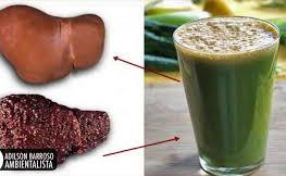 Натуральный напиток для чистки жирной печени
